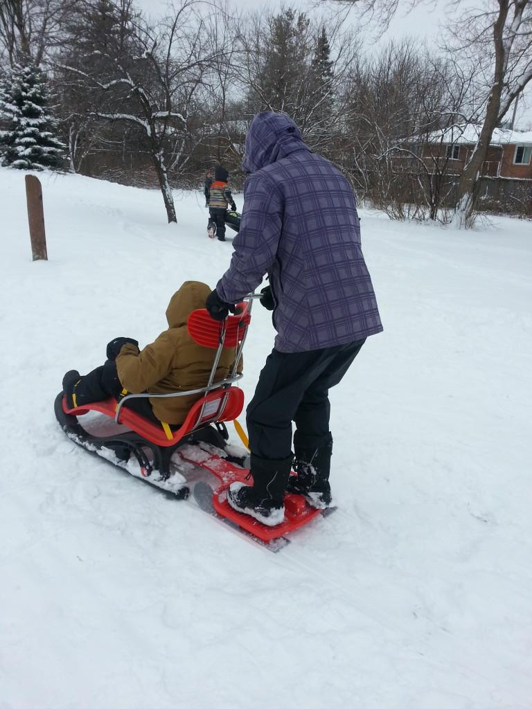 Aidan sledding